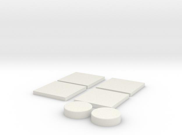 Tie Square and Round Lens in White Natural Versatile Plastic