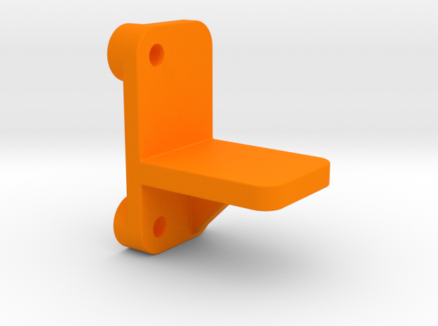 OX CNC - Y Axis Drag Chain Mount Top v3 in Orange Processed Versatile Plastic