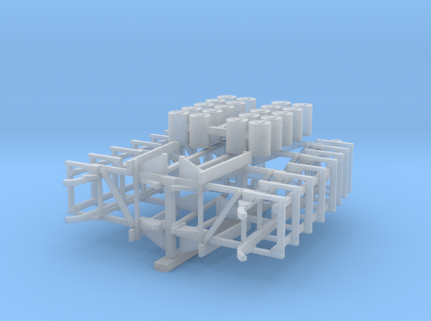 144_High_DC_Racks&Depth_Charges in Smooth Fine Detail Plastic