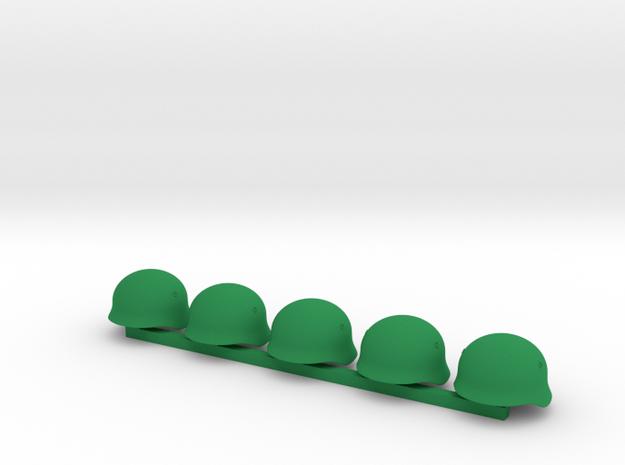 5 x German Pot WWI  in Green Processed Versatile Plastic