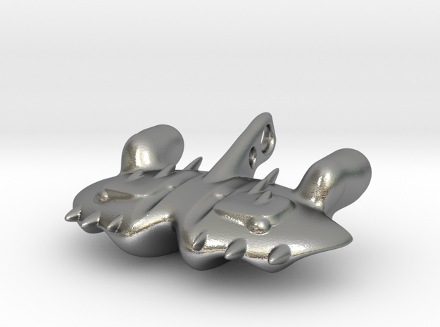 The dreaded Space-Manta-Ray in Natural Silver