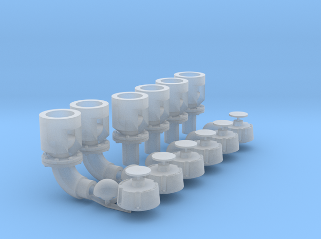 Winteb Air pipe heads_DN200_1:32 for damen ships in Smooth Fine Detail Plastic