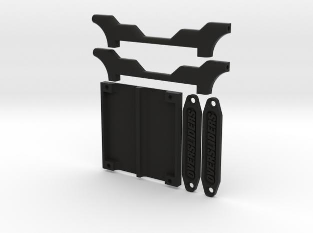 HIKOTECH BIANCA SHORTY TRAY W/ CABLE BRIDGE in Black Natural Versatile Plastic