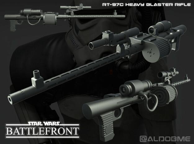 Star Wars RT-97C Heavy Rifle in Black Natural Versatile Plastic
