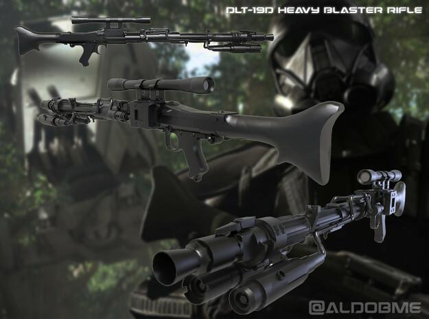 DLT-19D Heavy Blaster Rifle in Black Premium Versatile Plastic