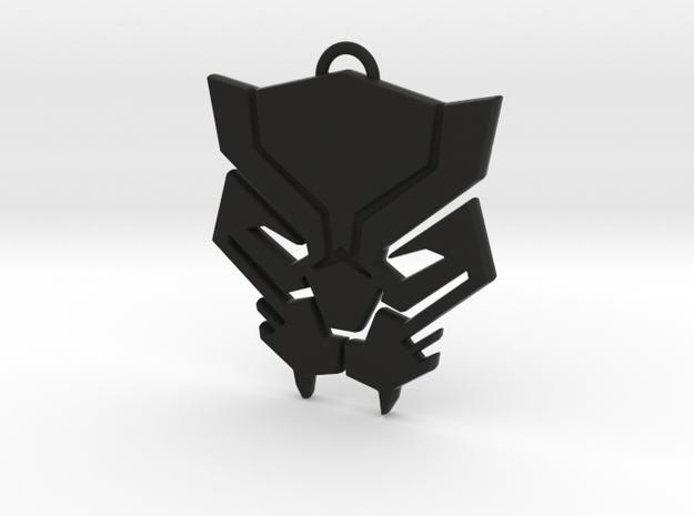 Black Panther Pendant in Black Natural Versatile Plastic