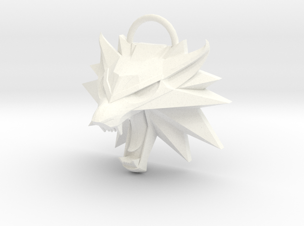 Witcher 3 Wild Hunt Medallion (Solid, Not Hollow) in White Processed Versatile Plastic