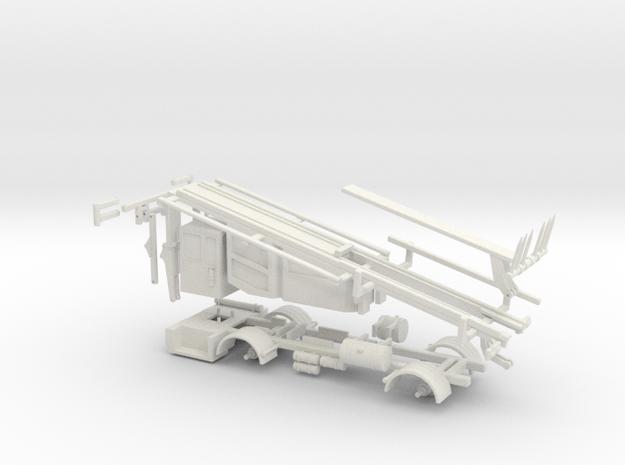 1/64 Stinger Truck Frame and Body in White Natural Versatile Plastic