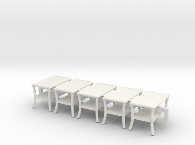 5 - 1:48 Patio Table in White Natural Versatile Plastic