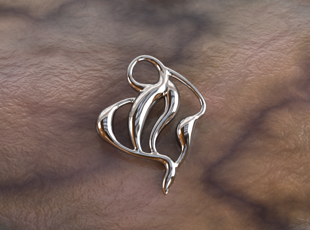 Ocean waves  in Polished Silver
