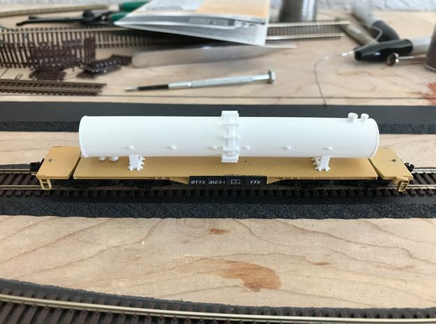 Flatcar Load - Fraction Tower - Zscale in Frosted Ultra Detail