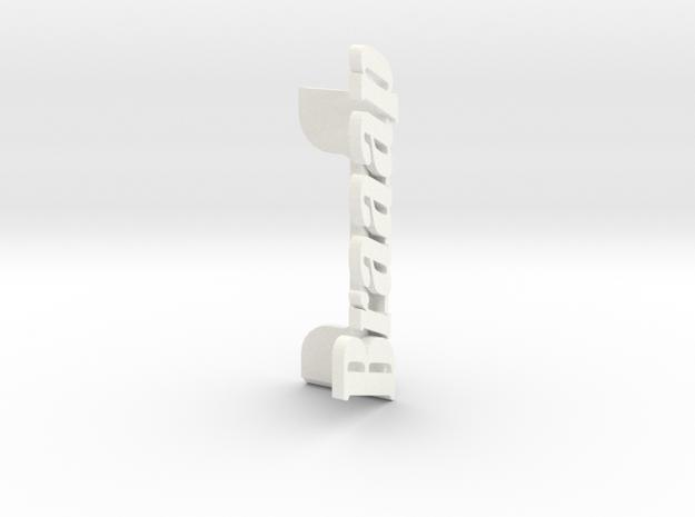 Braaap Picture Holder in White Processed Versatile Plastic
