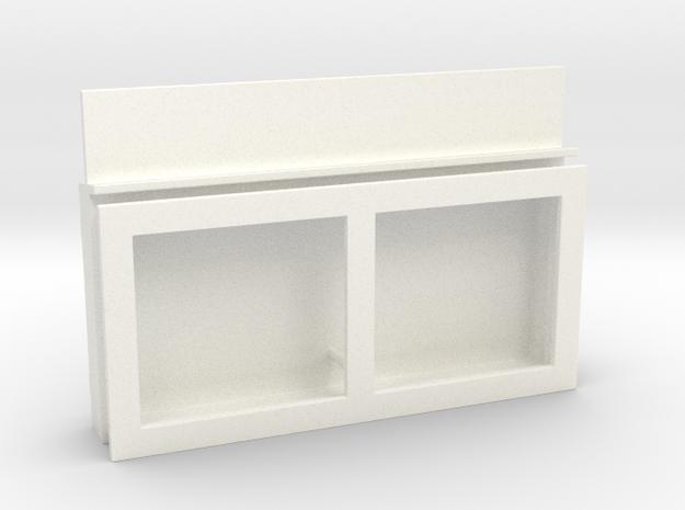 S1-229  Fahrplankasten in White Processed Versatile Plastic