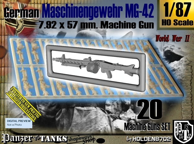 1/87 Machine Gun MG-42 Set001