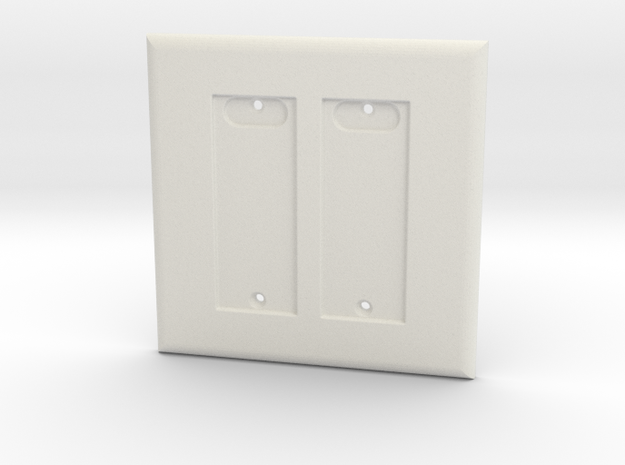 Philips HUE Double Dimmer 2 Gang Switch Plate in White Natural Versatile Plastic