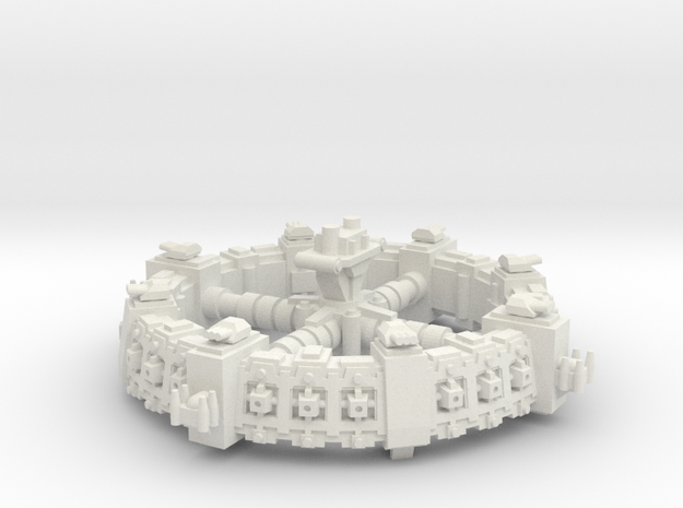 Estacion orbital de defensa  in White Natural Versatile Plastic