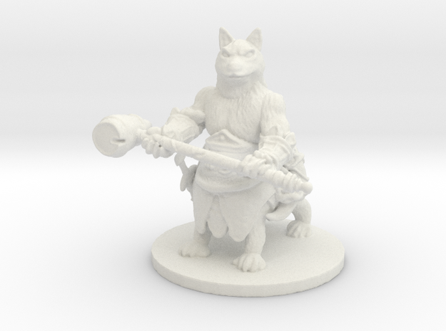 Civil Husky (Medium Canitaur) in White Natural Versatile Plastic