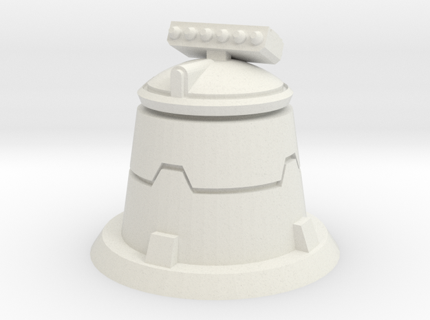 XM01 Sci Fi Missile turret in White Natural Versatile Plastic