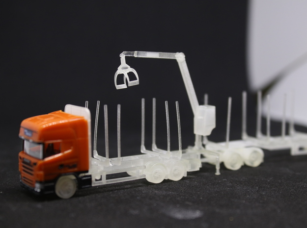 Swedish log truck and trailer in Smoothest Fine Detail Plastic