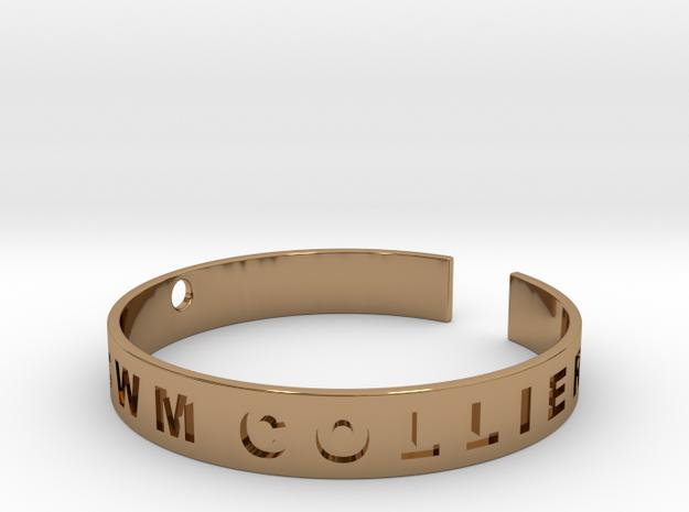 Custom Bracelet. in Polished Brass