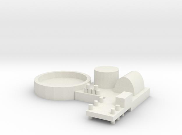 Naval Base Option 2 in White Natural Versatile Plastic