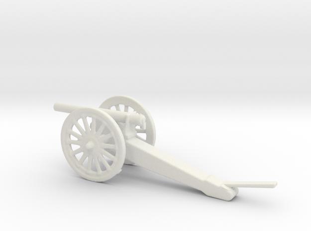 76.2mm Putilov M1900 Field Gun 1/56 in White Natural Versatile Plastic