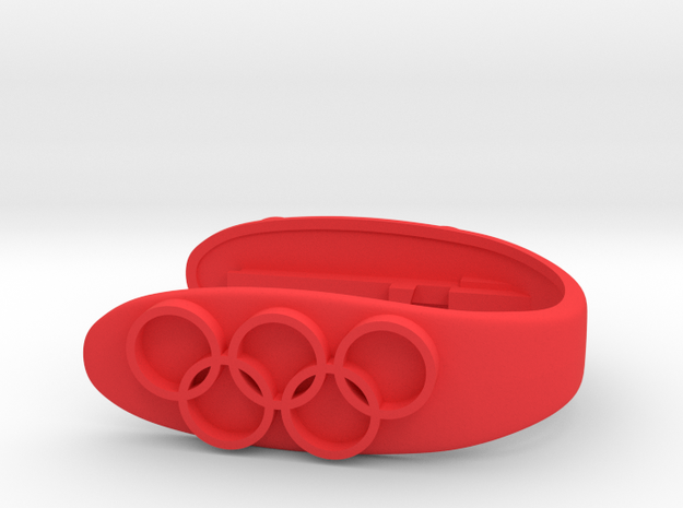 OLYMPIC KEY FOB  in Red Processed Versatile Plastic
