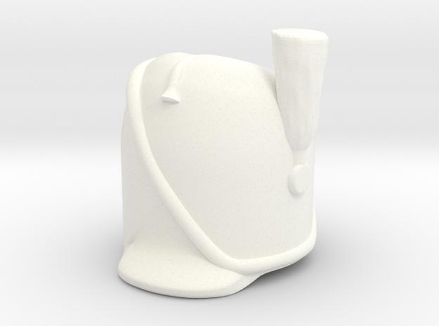 French Bearskin wPrim in White Processed Versatile Plastic