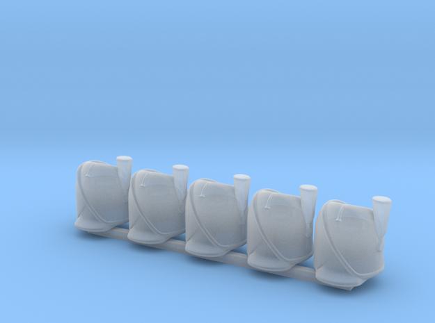 5 x Bearskin wPrim in Smooth Fine Detail Plastic