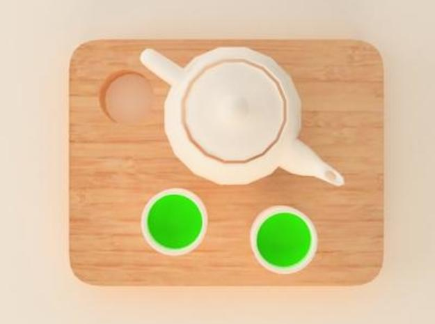 green tea 3d printed food accessory