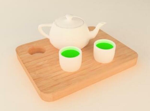 green tea 3d printed tea set