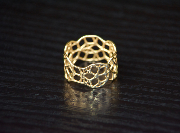Penrose Ring, Size 7 in Polished Bronze