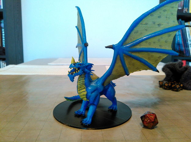 Adult Blue Dragon in Blue Strong & Flexible Polished