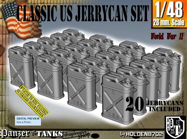 1/48 US Jerrycan x20 Set101 in Frosted Ultra Detail