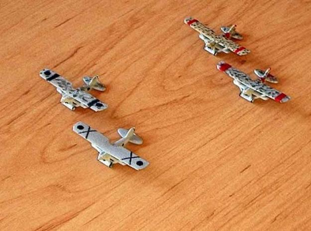 1/300 Nieuport 52 x 4 3d printed Nationalist and Republican planes