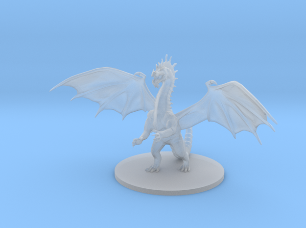 Young Green Dragon  in Smooth Fine Detail Plastic
