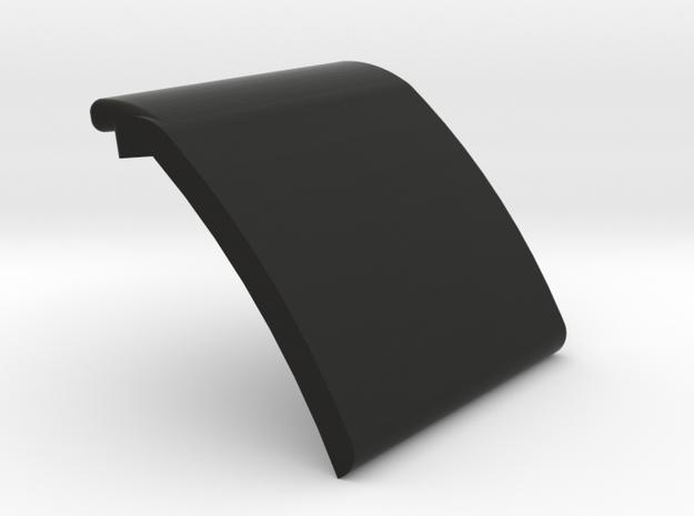 Lok-2.5-inch Blank Gate plate in Black Strong & Flexible