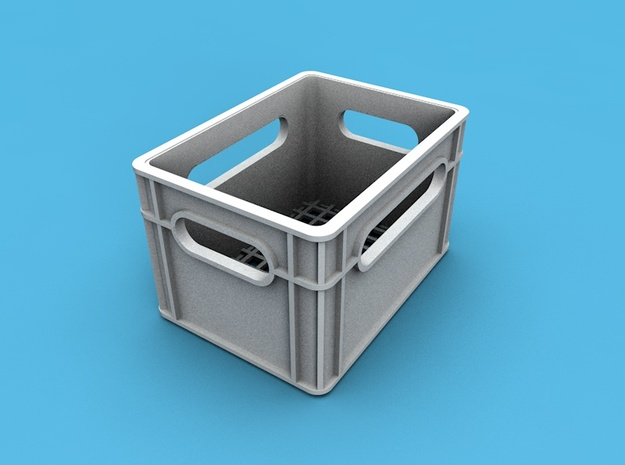 1/10th scale crate in White Strong & Flexible
