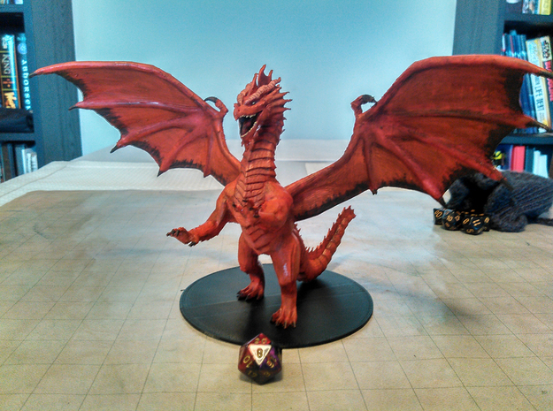 Adult Red Dragon in Red Strong & Flexible Polished