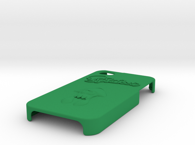 iPhone 4 Splatoon Case in Green Processed Versatile Plastic