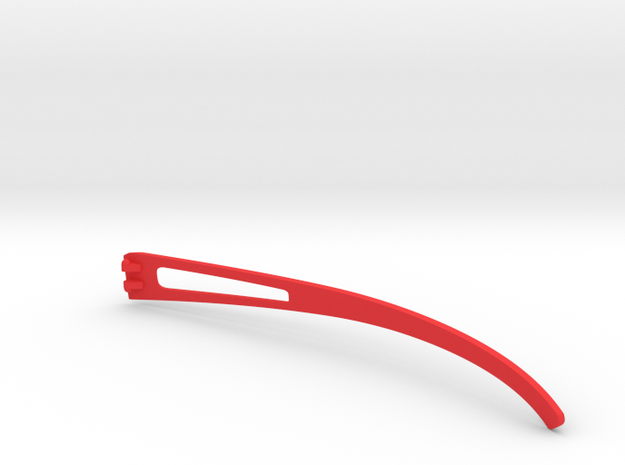 Vanderpool Vision Spec2&3_Right Temple_VER0_REV2 in Red Strong & Flexible Polished