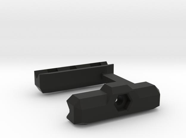 Rail_Figure_Spotter-G_Mount ver2.0 in Black Natural Versatile Plastic