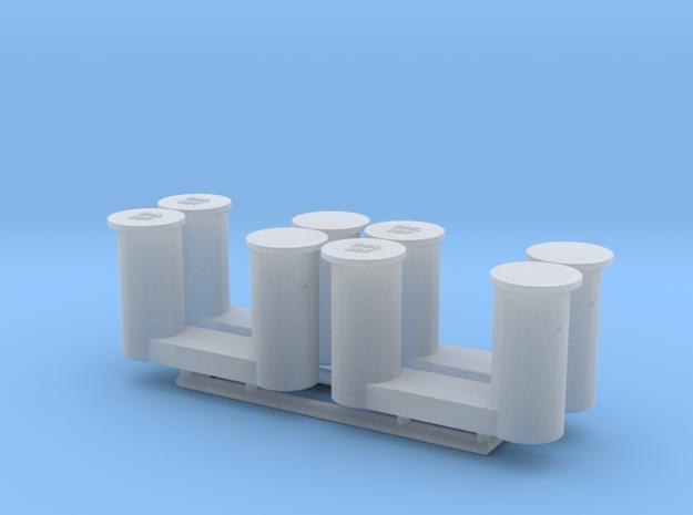 4 bollards big_4 Poller groß 1:75 in Smooth Fine Detail Plastic
