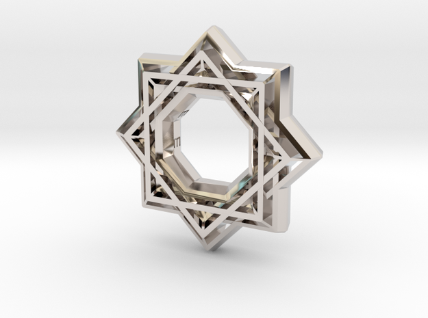Star no diamond in Rhodium Plated
