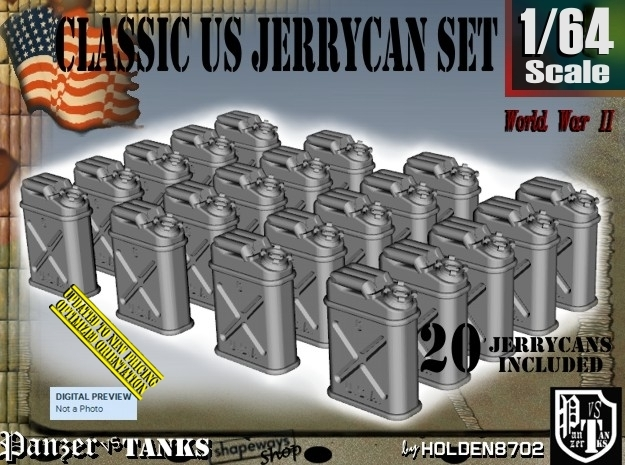 1/64 US Jerrycan x20 Set101 in Frosted Ultra Detail