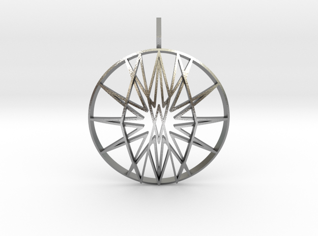 Seal of Raziel (Domed) in Natural Silver