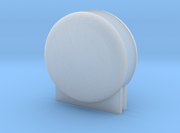 "'N & HO Scale' - LNG Tank Ends & Supports - 1"" dia in Smooth Fine Detail Plastic"