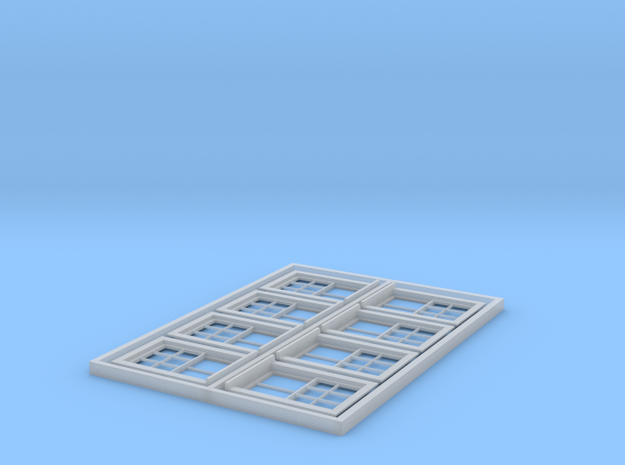 HO Scale set of 8 CPR No.4 standard windows in Smoothest Fine Detail Plastic