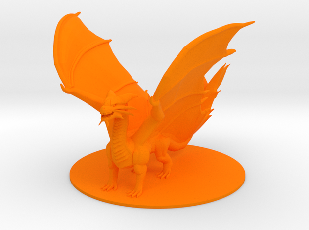 Ancient Copper Dragon in Orange Strong & Flexible Polished