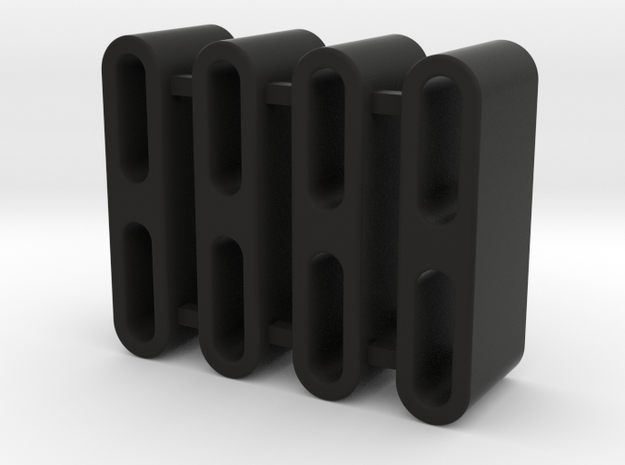"TRX-4 - ROCK SLIDER SPACER-SHAPEWAYS ,1/2"" in Black Natural Versatile Plastic"